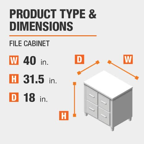 File Cabinet Product Dimensions 40 inches wide 31.5 inches high
