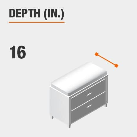 Depth 16 inches
