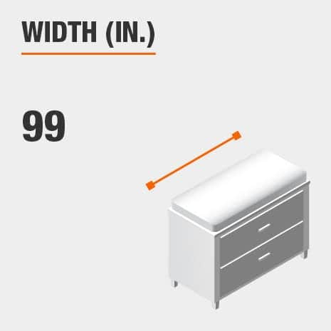Width 99 inches