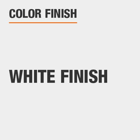 This bathroom vanity mirror color finish is White finish