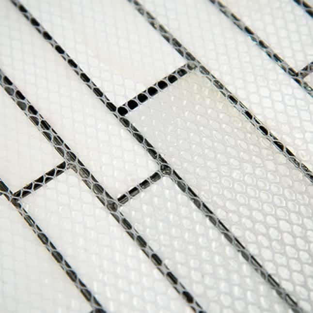 An image showing the meshed backing that is available in mosaic sheets.