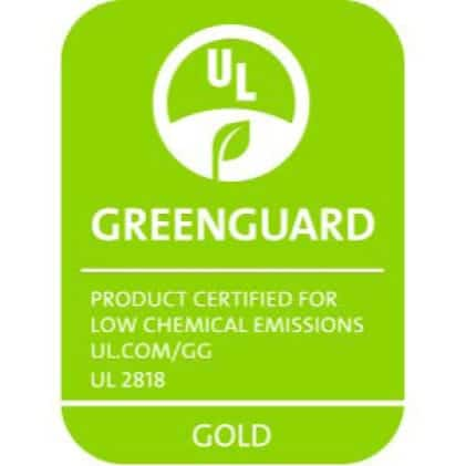 A graphic showing the Greenguard certification logo.