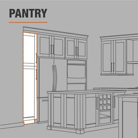 Pantry cabinet that is ready to install in your kitchen, bathroom, and garage
