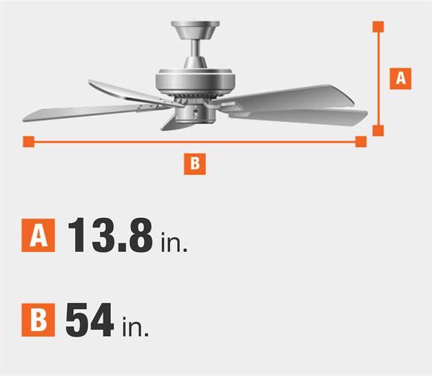 54 inch ceiling fan