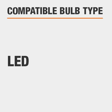 This light is compatible with LED bulbs.