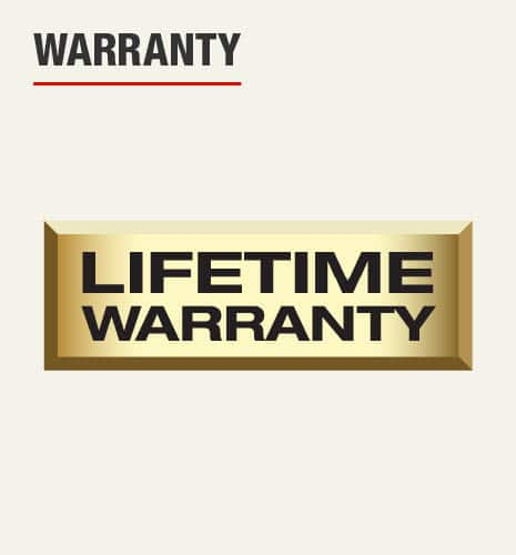 There is a lifetime warranty.