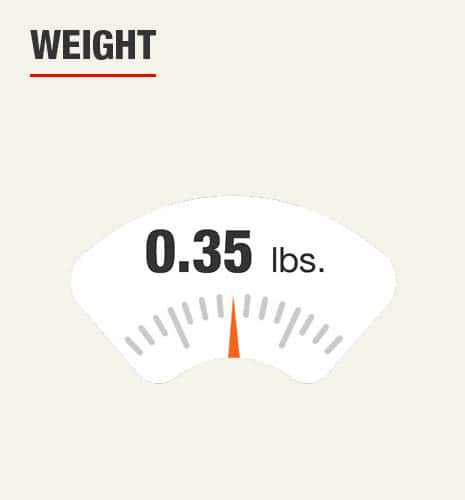 The weight is 0.35 lbs.