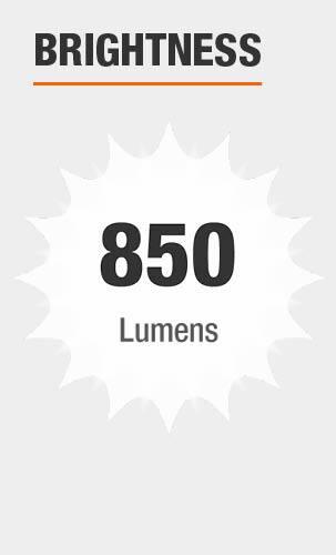 Brightness: 850 Lumens