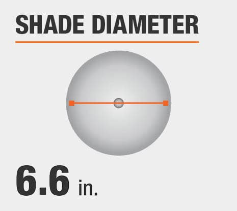 Shade Diameter: 6.6 in.