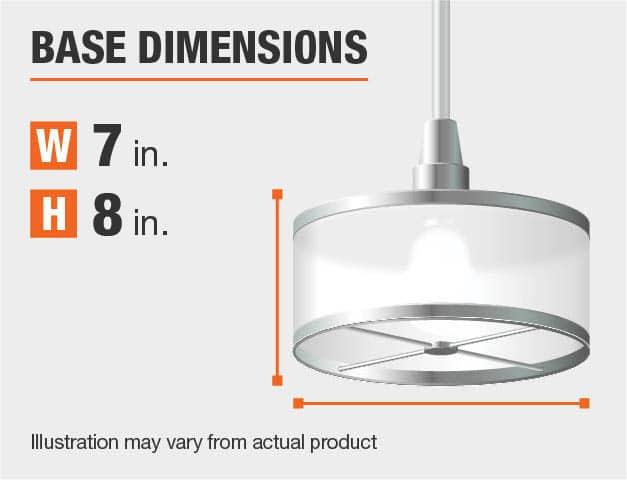 Measurement of a pendant's base.