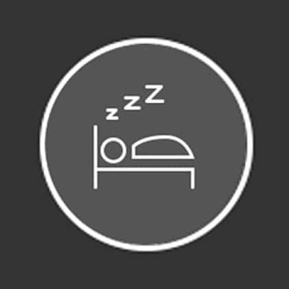 Icon of person sleeping in bed