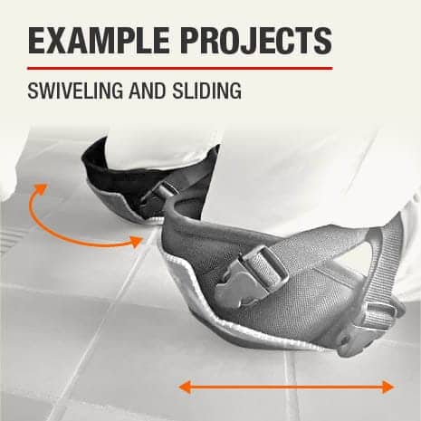 A sample project use for this knee pad is to swiveling or sliding