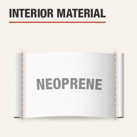 The interior material for this knee pad is neoprene