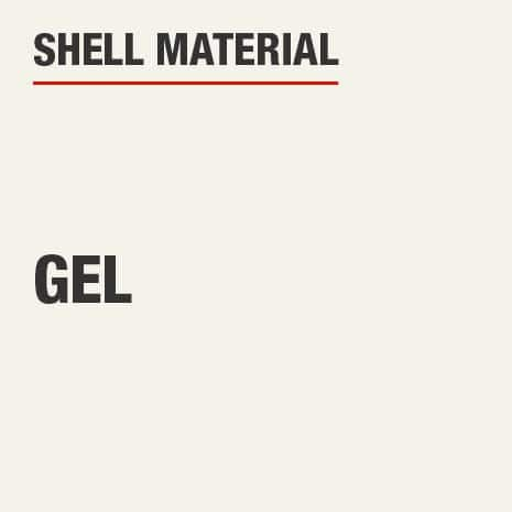 The shell material for this knee pad is gel