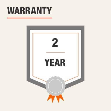 This knee pad includes a 2-Year Warranty