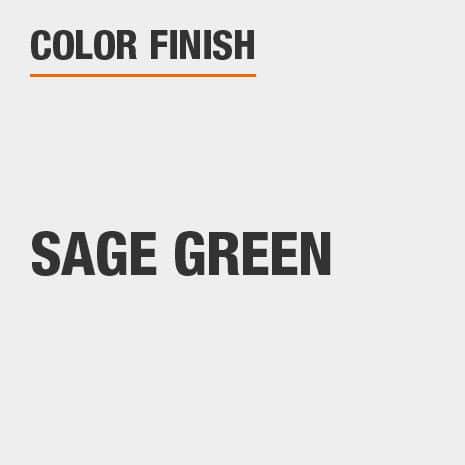 This bathroom vanity mirror color finish is Sage Green