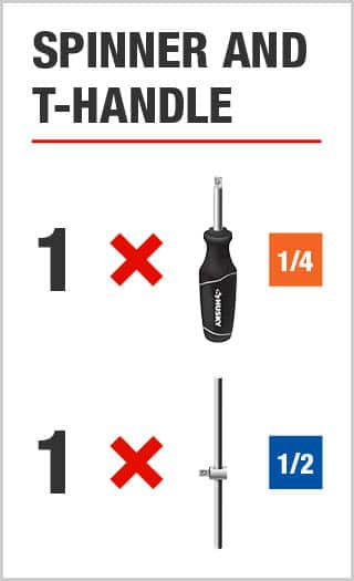 Spinner and T-Handle