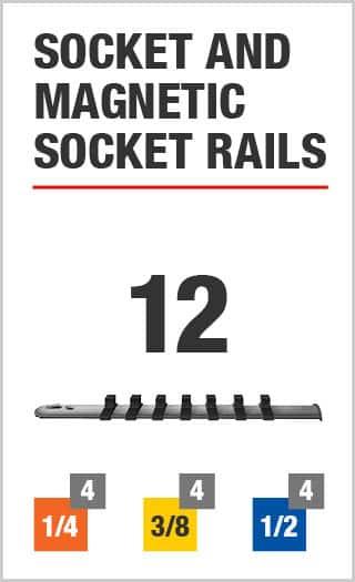 Socket and Magnetic Socket Rails