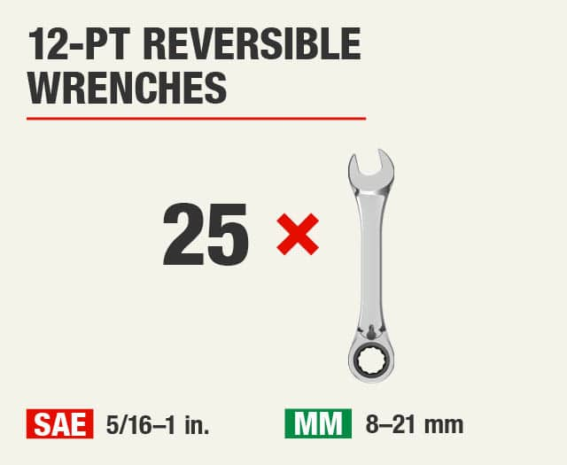 12-Pt Reversible Wrenches