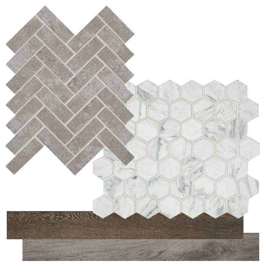 Lifeproof procelain tile trim and mosaics