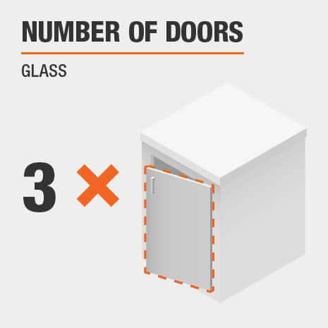 This product includes three glass doors