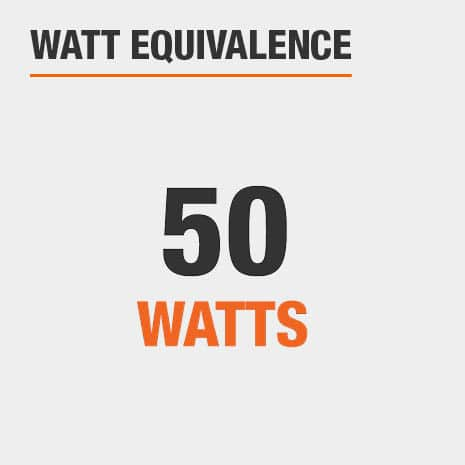This light has a watt equivalence of 50 watts.