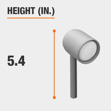 This light's height is 5.4 inches.