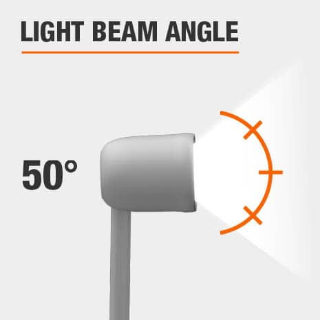 This light has a beam angle of 50.