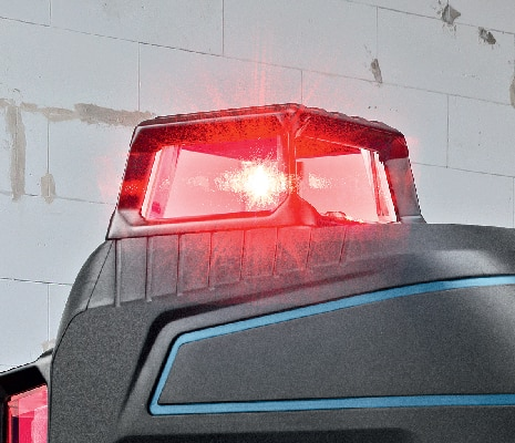 Bosch GLL3-300 close-up of high visibility beam.