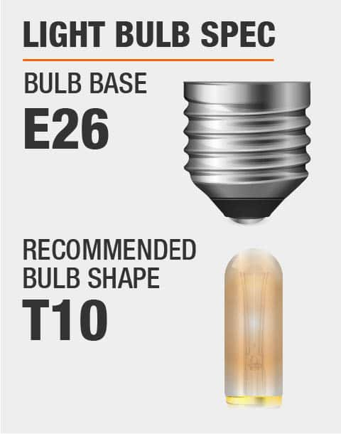 E26 Base T10 Bulb Recommended