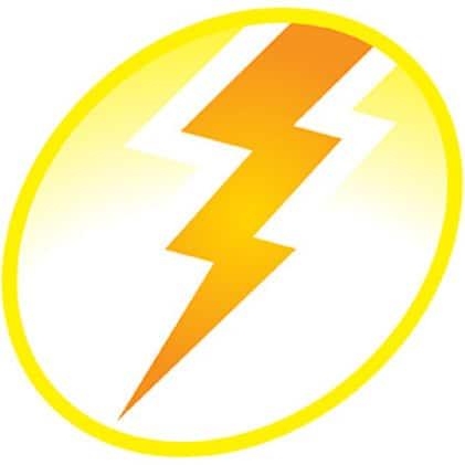 orange lightening icon