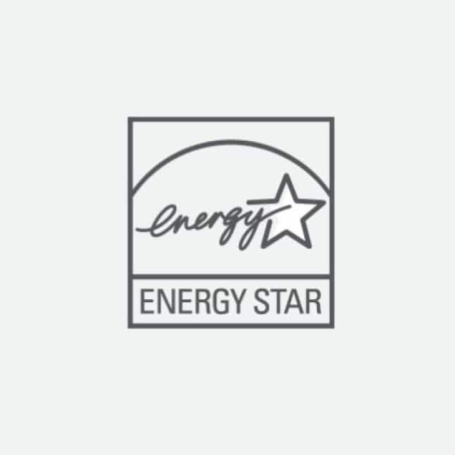 Certified with the Energy Star rating
