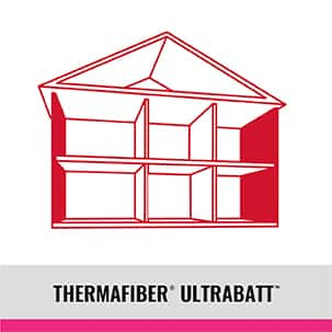 House diagram for Thermafiber UltraBatt