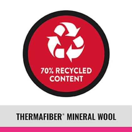 Thermafiber recycled content icon
