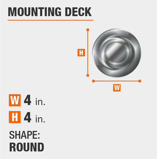 Round Mounting Deck