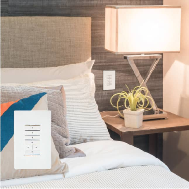 Use the Multi-Room Scene Keypad to control your entire home's lighting.