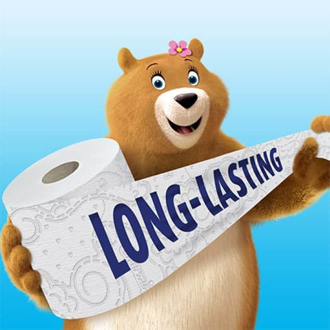 Charmin Mega Roll was created to last longer with 4x the number of sheets as Charmin Regular Roll.