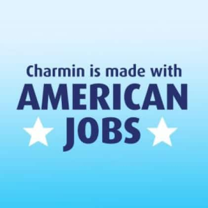 Charmin is proudly manufactured in the USA. 100% of Charmin products are made with American jobs.