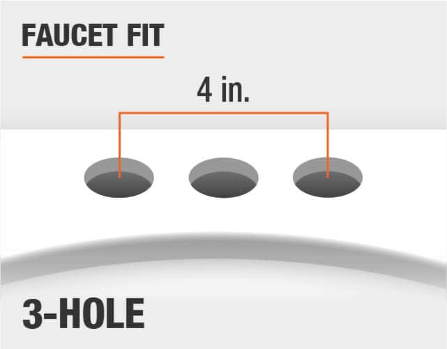 Faucet Fit 3 Hole 4 Inch Spread