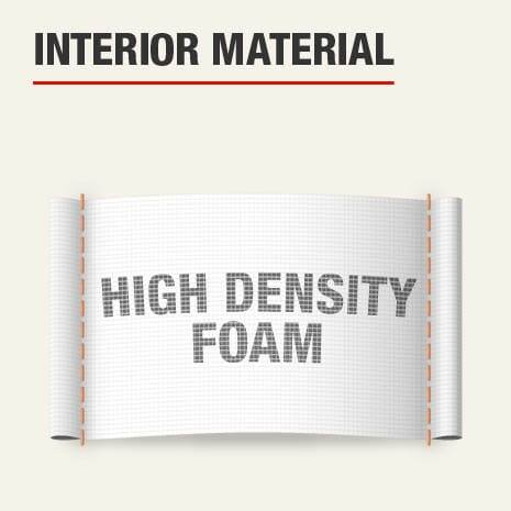 The interior material for this knee pad is high density foam