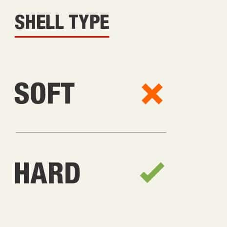The shell type for this knee pad is hard shell