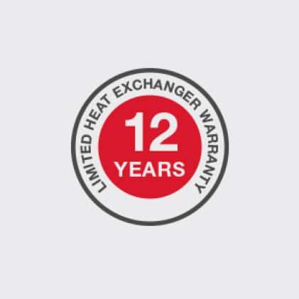 12 Year Limited Heat Exchanger Warranty