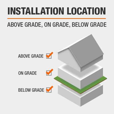Lifeproof Hardwood flooring can be installed above grade, on grade, or below grade.