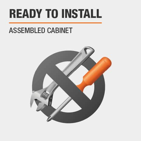 Cabinet comes ready to install for a kitchen, laundry room, or garage