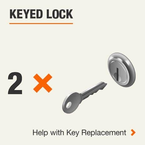 Keyed Lock 2 Key. Click for help with replacement