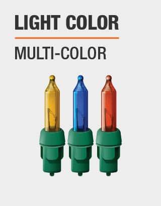 The light colors are multiple
