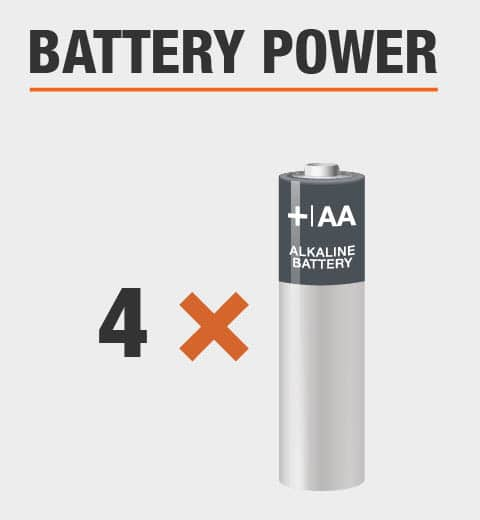 This product is powered by 4 double A batteries