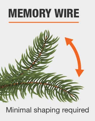 Minimal shaping required with memory wire
