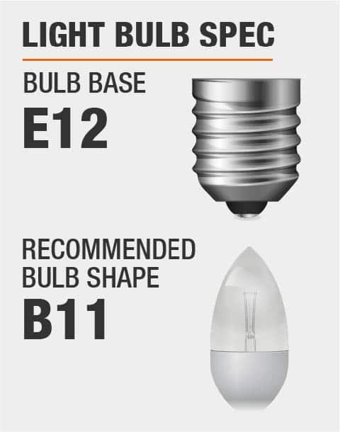 2 Light Bulbs Required