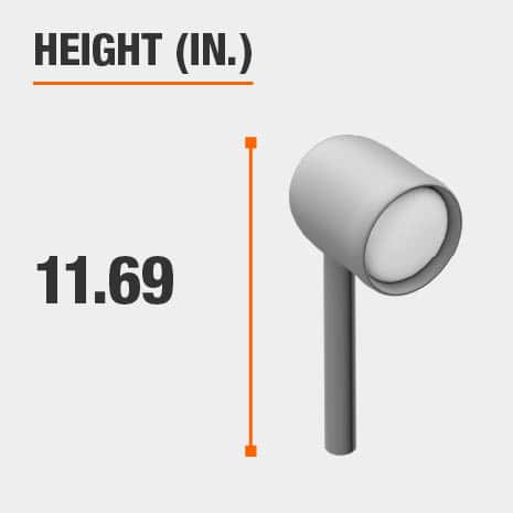 This light's height is 11.69 inches.
